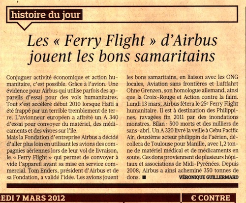25e Ferry Flight Airbus