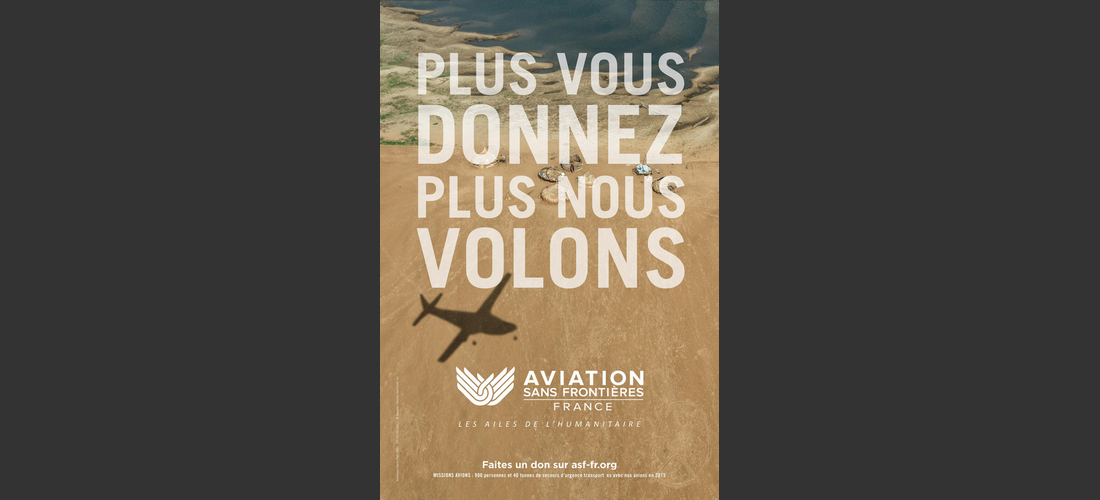 Aviation Sans Frontières s'affiche partout en France
