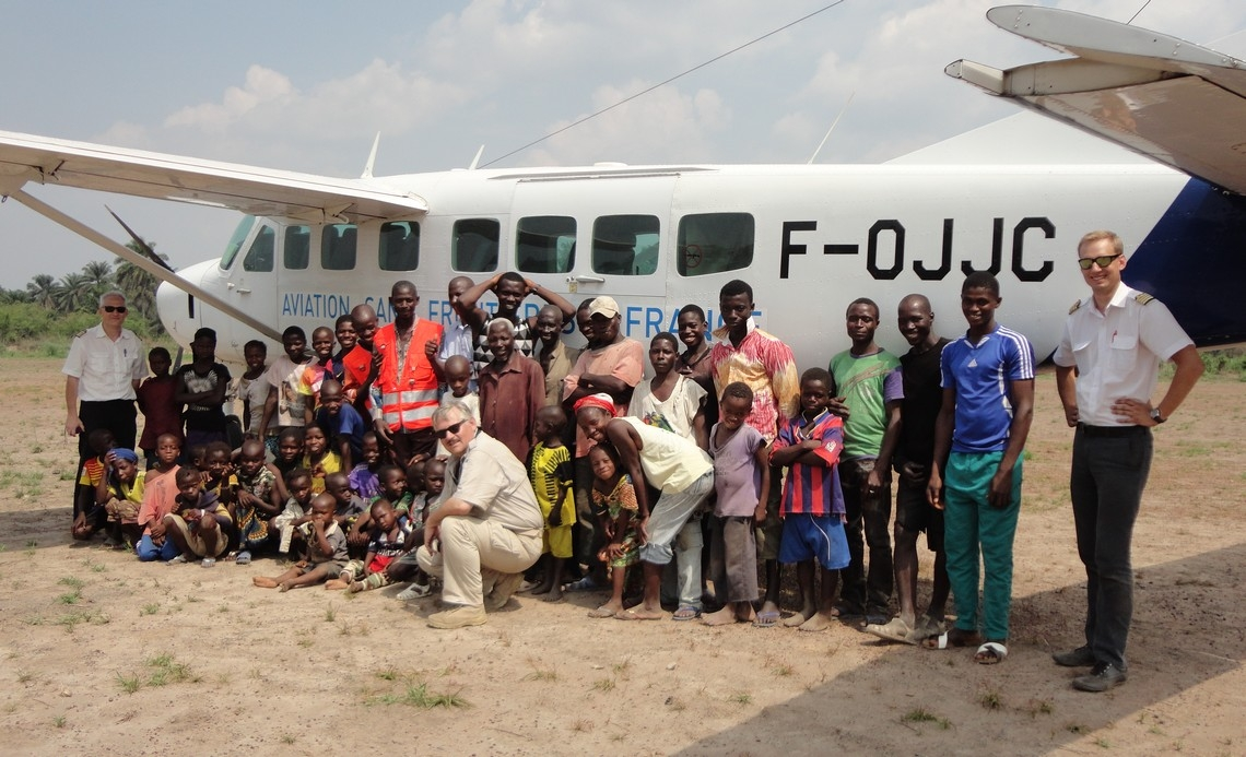 our plane sends support to the Ebola centre in Macenta